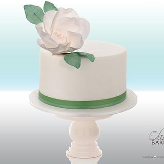 Green Mini Wedding Cake - Cake by Olivia's Bakery