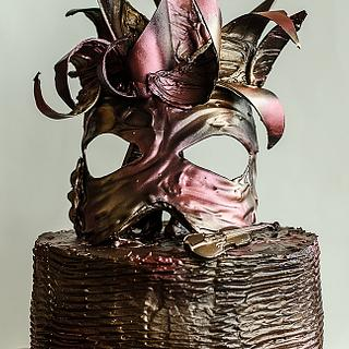 venice carnival  mask cake