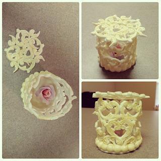 Flower bucket  - Cake by Galin Genov