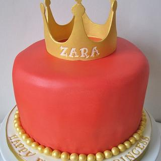 Zara's first birthday princess cake