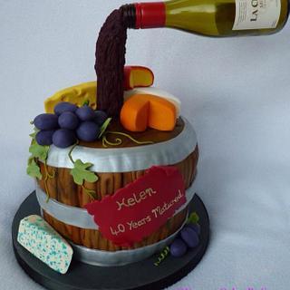 My first gravity cake - Cake by YummyCakesBySue