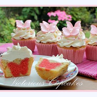 Hidden Butterfly Cupcakes