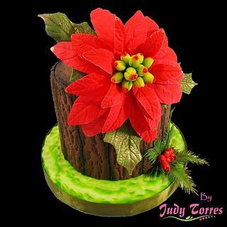 POINSETTIA - Cake by JUDY ESPERANZA TORRES BERNAL