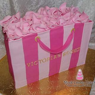 Victoria's Secret Bag - Cake by Rock Candy Cakes
