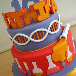 Mad Science Birthday Cake