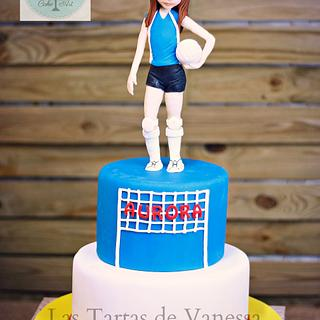 Volleyball girl cake