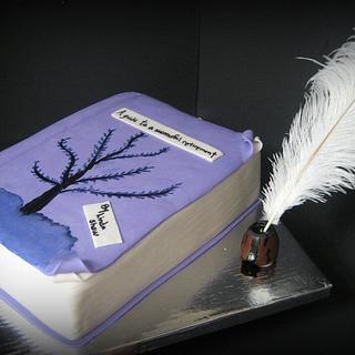 BOOK CAKE- RETIREMENT
