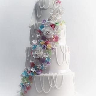 Wedding cake with avengers.