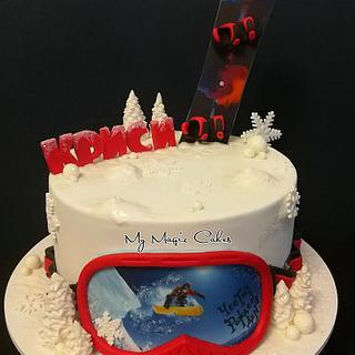 Snowboarding cake - Cake by My Magic Cakes
