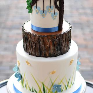 Woodland Baby Shower Cake