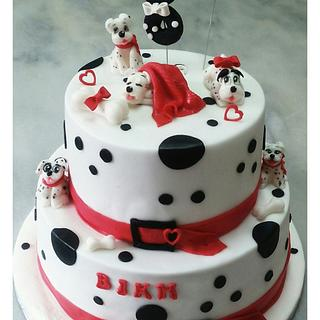 101 Dalmatians dogs cake - Cake by Aspasia Stamou