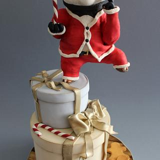 Have a Kung-Fu Christmas!! - Cake by Angela Penta