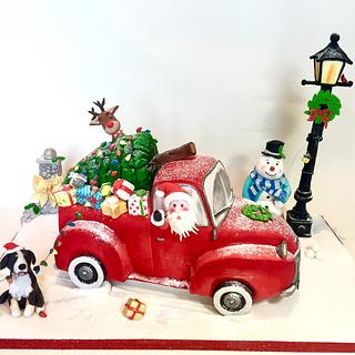Santa runs away with the Christmas Tree