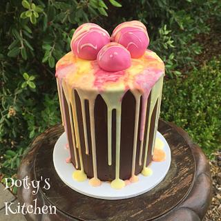 Watercolour drippy cake