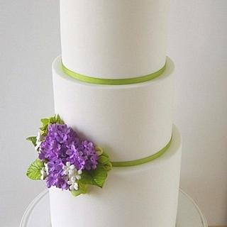 Lilac Wedding Cake