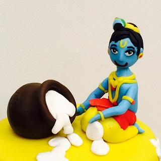 Krishna's childhood cake