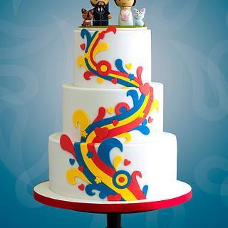 Beatles Cirque du Soleil Vegas Wedding Cake