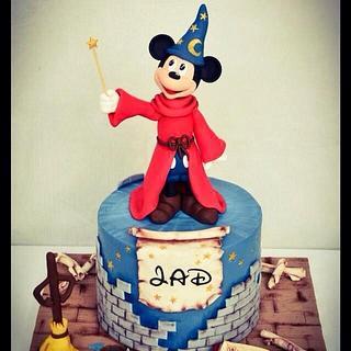 Mickey Fantasia - Cake by Mademoiselle fait des gâteaux