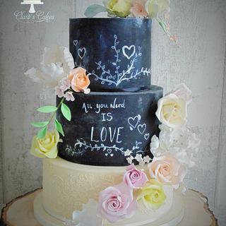 My first Blackboard cake