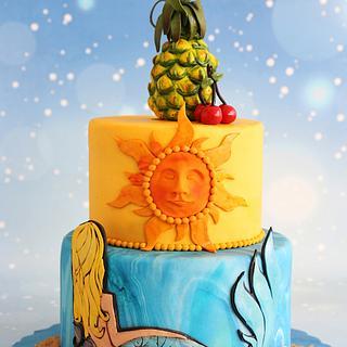 Summer sunshine - Cake by Archana