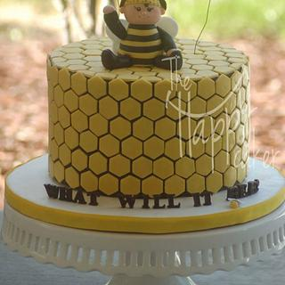 What will it bee? Baby shower cake - Cake by Shannon Davie