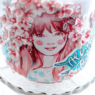 Alba ninth birthday cake