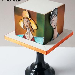 Modigliani Girls - Cake by Enrique
