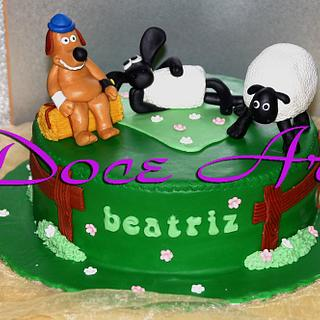 Shaun sheep Cake