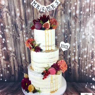 Autumn Weddingcake seminaked