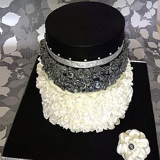 Ruffle anniversary cake