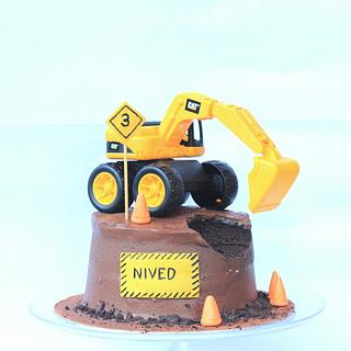Construction cake for my 3 Year old....