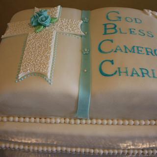 Christening Bible Cake
