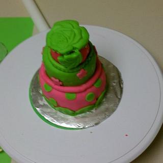 Funky mini cake