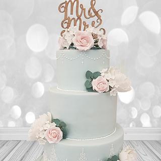 Pretty Pastel Wedding cake