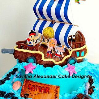 Jake and the neverland pirates theme cake