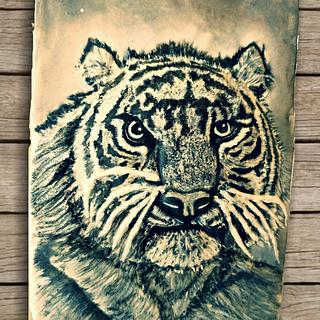 Black and white tiger cookie