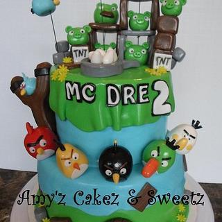 ANGRY BIRDS - Cake by Amy'z Cakez & Sweetz