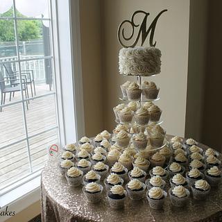 Wedding Cake + Cupcakes