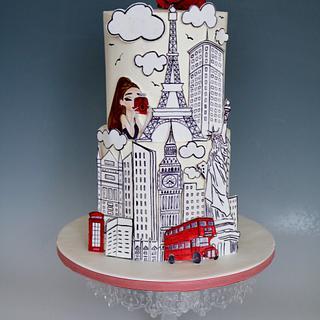 Traveling cake