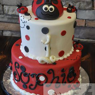 1st Birthday Ladybug Cake - Cake by Leo Sciancalepore