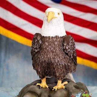 American Bald Eagle - Cake by Tammy Mashburn