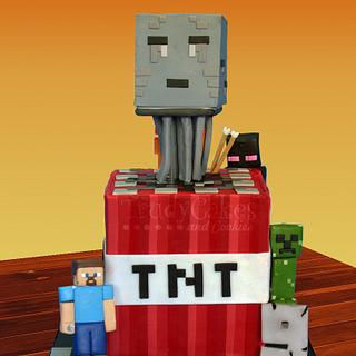 TNT Mob Attack - Cake by TrudyCakes