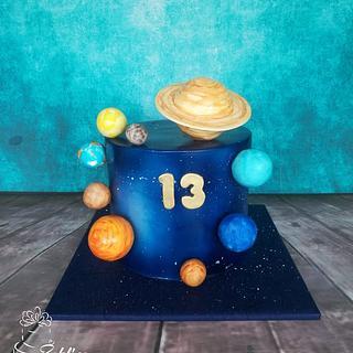 Galaxy Planets cake - Cake by Zaklina
