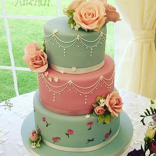 Kath Kidston Wedding Cake