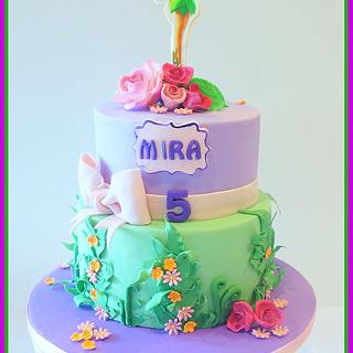Tinker Bell Cake! - Cake by AmberDoesCakes