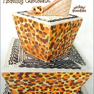 Leopard Print Shoe Cake - Cake by Wicked Goodies