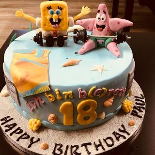 My Spongebob and Patrick Cake - Cake by Knuffy121