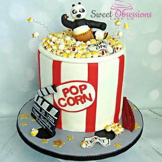 Popcorn Tub  - Cake by Sweet Obsessions Cake Co