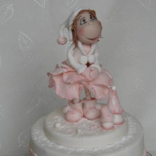 Winter cake for my daughter - Cake by lamps