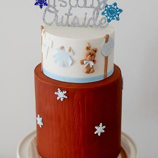 Baby it's cold out side Baby Shower Cake!